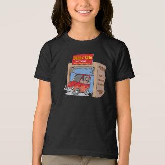 Camiseta Auto t-shirt feliz das meninas do lavagem de
