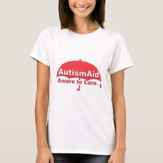 Camiseta Auxílio do autismo ciente ao cuidado