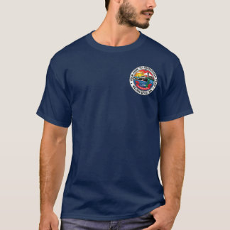 Camiseta Auxílios de USCG ao furo das madeiras da equipe da