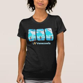 Camiseta ave marinho de alimentação em Morrocoy, eu estava