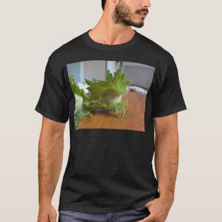 Camiseta Avelã verdes frescas em uma mesa de madeira