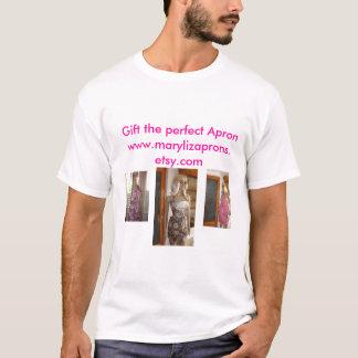 Camiseta Avental floral chamativo 001, vintage Brown,