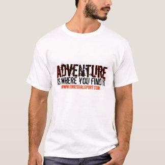 Camiseta Aventura 1 do DDS: Parte dianteira & parte