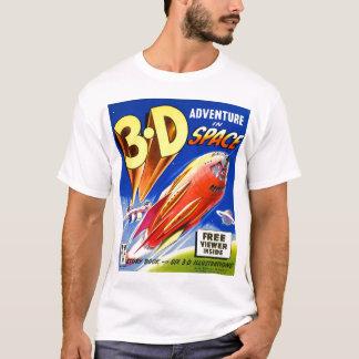 Camiseta Aventura retro de Sci Fi 3D do kitsch do vintage