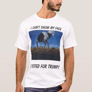Camiseta avestruz, eu não posso mostrar minha cara, mim