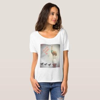 Camiseta Avestruz inspirada do texto do t-shirt engraçado