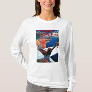 Camiseta Aviação de D da reunião em agradável, poster de