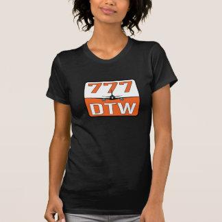 Camiseta Avião 777 com o aeroporto de DTW (Detroit)