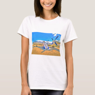 Camiseta Avião de passageiros do pop art