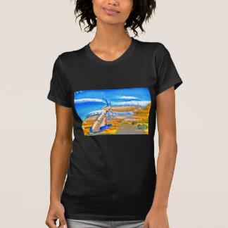 Camiseta Avião de passageiros do russo do pop art