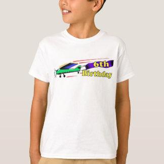 Camiseta Avião do aniversário do menino 6o