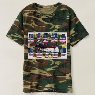 Camiseta aviation t-shirt magic numbers green camouflaged