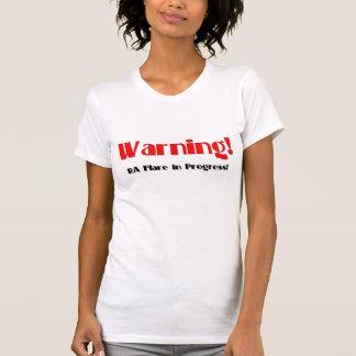 Camiseta Aviso! Alargamento do RA em andamento