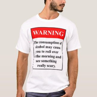 Camiseta Aviso do álcool!