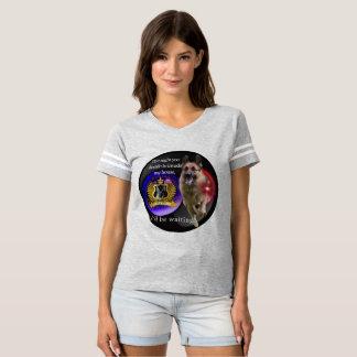 Camiseta Aviso do german shepherd