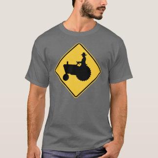 Camiseta Aviso do sinal de estrada do trator