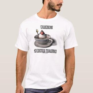 Camiseta Aviso! Em férias mentais (copo de café do duque