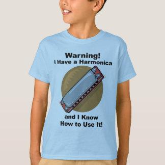 Camiseta Aviso! Eu tenho uma harmônica…