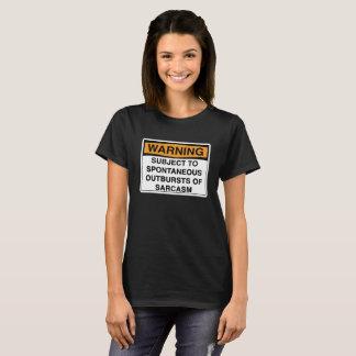 Camiseta Aviso - sarcasmo