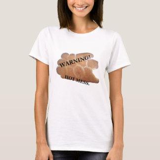 Camiseta Aviso! T-shirt quente da confusão