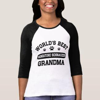 Camiseta Avó do Schnauzer diminuto do mundo a melhor