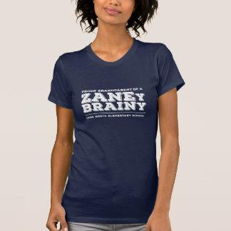 Camiseta Avó orgulhosa de um T das mulheres Brainy de Zaney