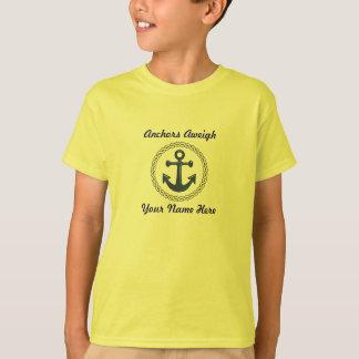 Camiseta Aweigh das âncoras personalizado