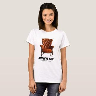 Camiseta Awww senta o T das senhoras de Cambridge