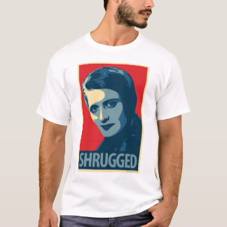 Camiseta Ayn Rand: Shrugged (t-shirt da paródia do poster