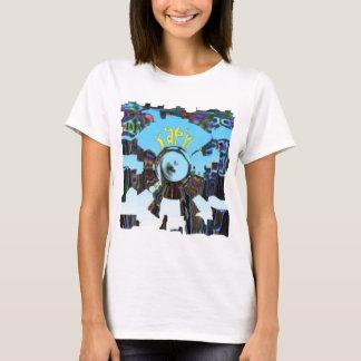 Camiseta Azul abstrato