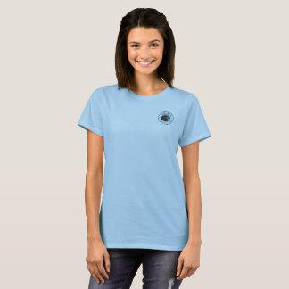 Camiseta Azul básico do t-shirt das mulheres dos marismas