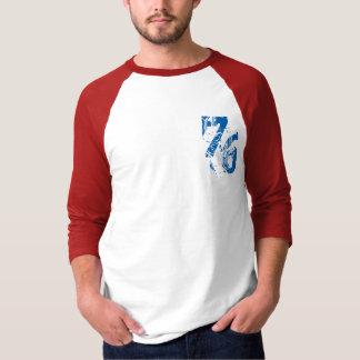 Camiseta azul branco vermelho EUA do design do t-shirt