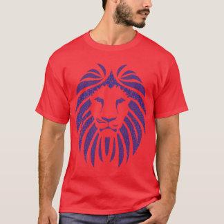 Camiseta Azul da bolha do leão