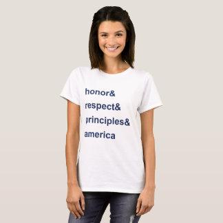 Camiseta Azul de América dos princípios do respeito da