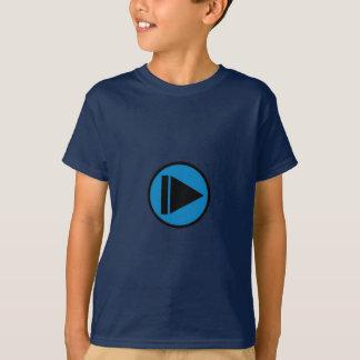 Camiseta azul de cabeça para baixo do movimento lento