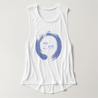 Camiseta azul de Ensō do zen