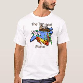 Camiseta Azul de North Carolina o estado BirdFlower do