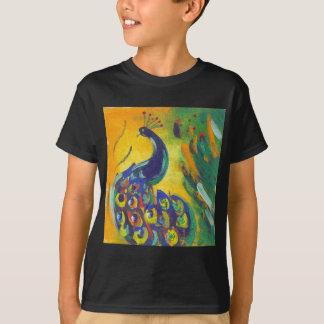 Camiseta azul de pavão