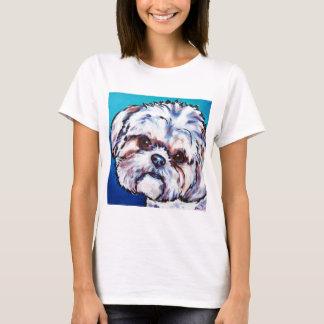 Camiseta Azul de Shih Tzu
