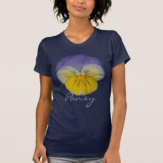 Camiseta azul do amarelo do amor perfeito 2a