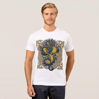 Camiseta azul do dragão