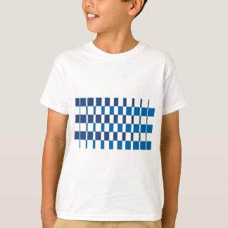 Camiseta Azul do inclinação