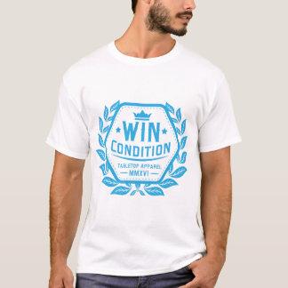 Camiseta Azul do logotipo da condição da vitória