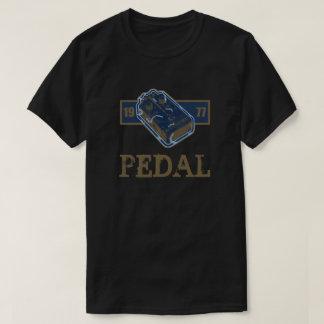 Camiseta Azul do pedal da distorção/ouro 1977