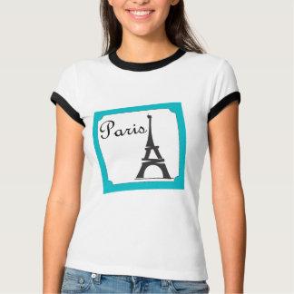 Camiseta Azul do selo de Paris