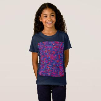 Camiseta Azul do t-shirt das meninas com cristais mágicos