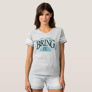 Camiseta Azul do Tshirt | do *BRING IT*, coloração de prata