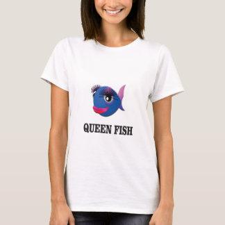 Camiseta azul dos peixes da rainha yeah
