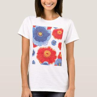 Camiseta Azul e papel de parede de Red_Floral