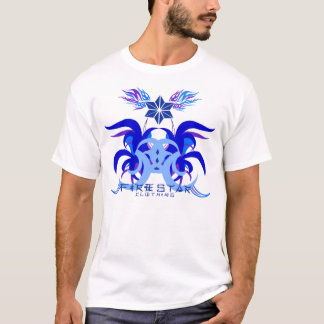 Camiseta Azul longo e roxo da luva da glória de FireStar